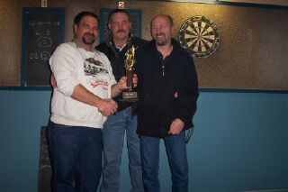 Leon Gutschlag and Memorial winners Dave Kane and Richie Swain