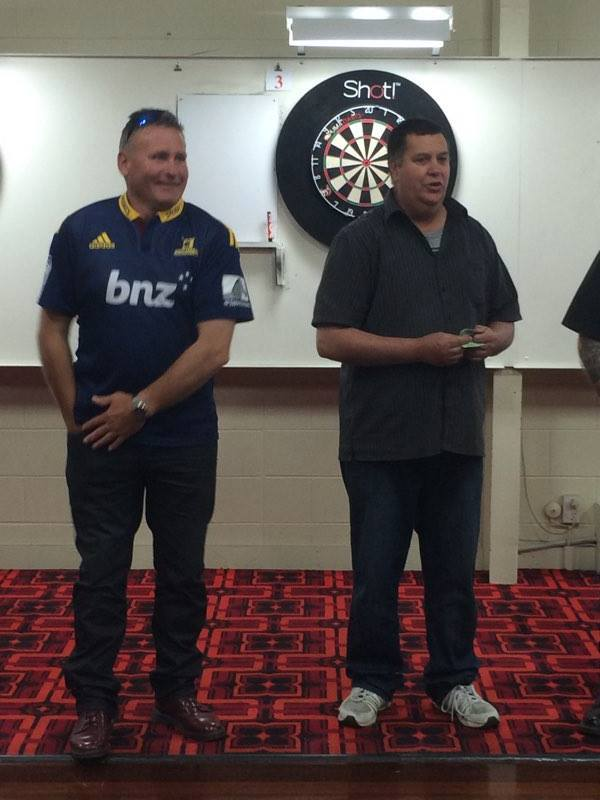 Oamaru Club Inc. Open Christmas Drawn Pairs Winners Steve Edwards and Paul Gr